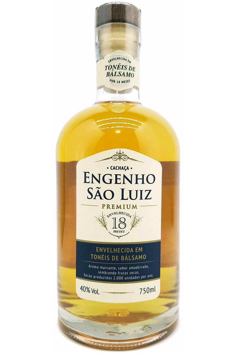 Cachaça São Luiz Premium Bálsamo  750ml