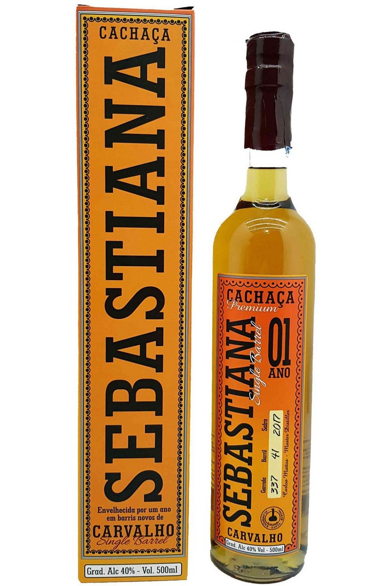 Cachaça Sebastiana Carvalho Single Barrel 1 Ano 500ml