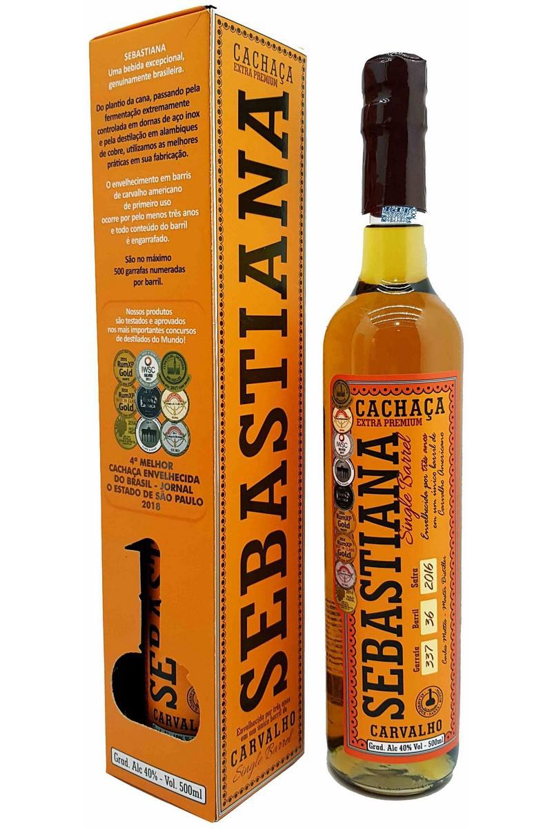 Cachaça Sebastiana Carvalho Single Barrel 3 Anos 500ml