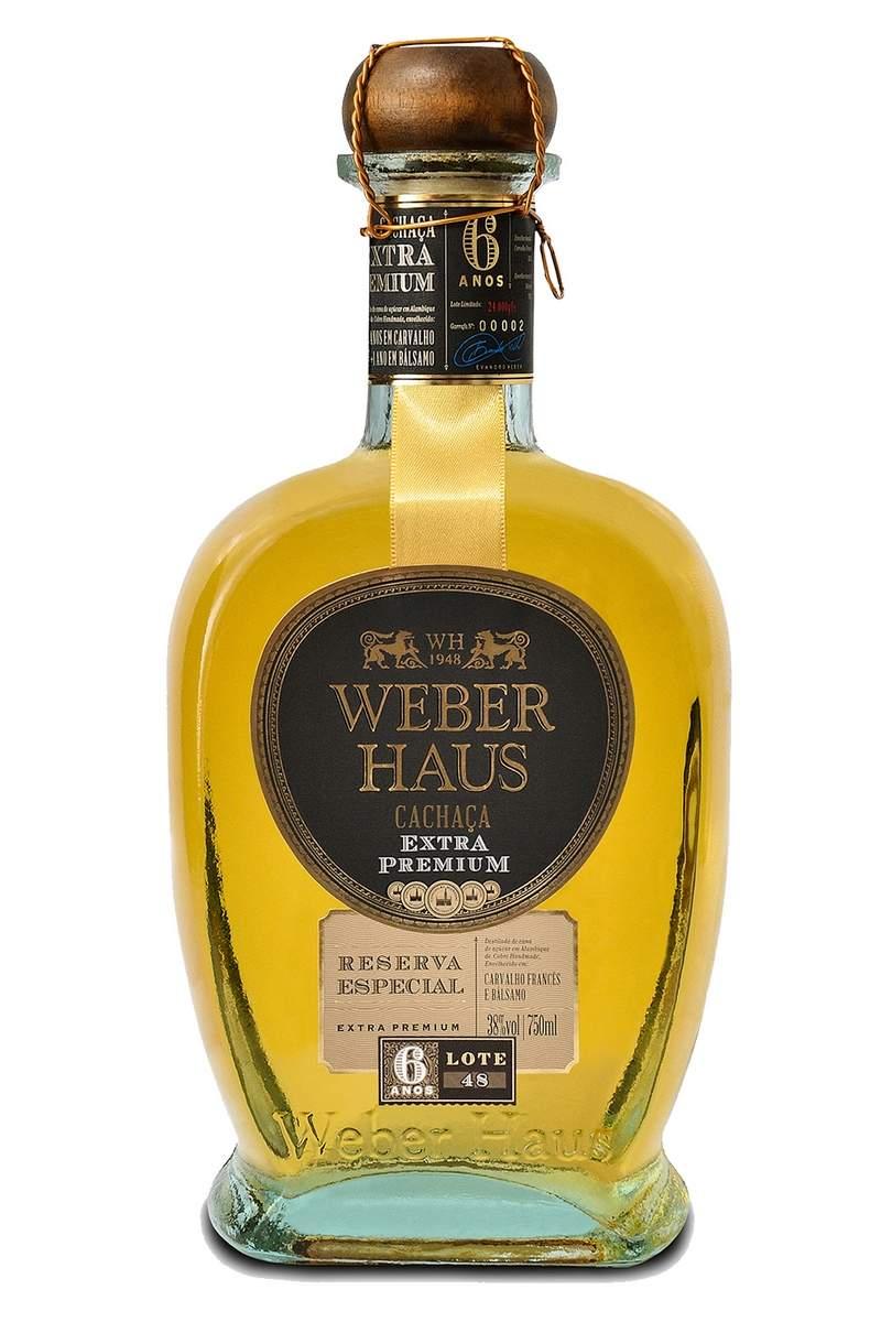 Cachaça Weber Haus Extra Premium Reserva Especial 6 Anos 750ml