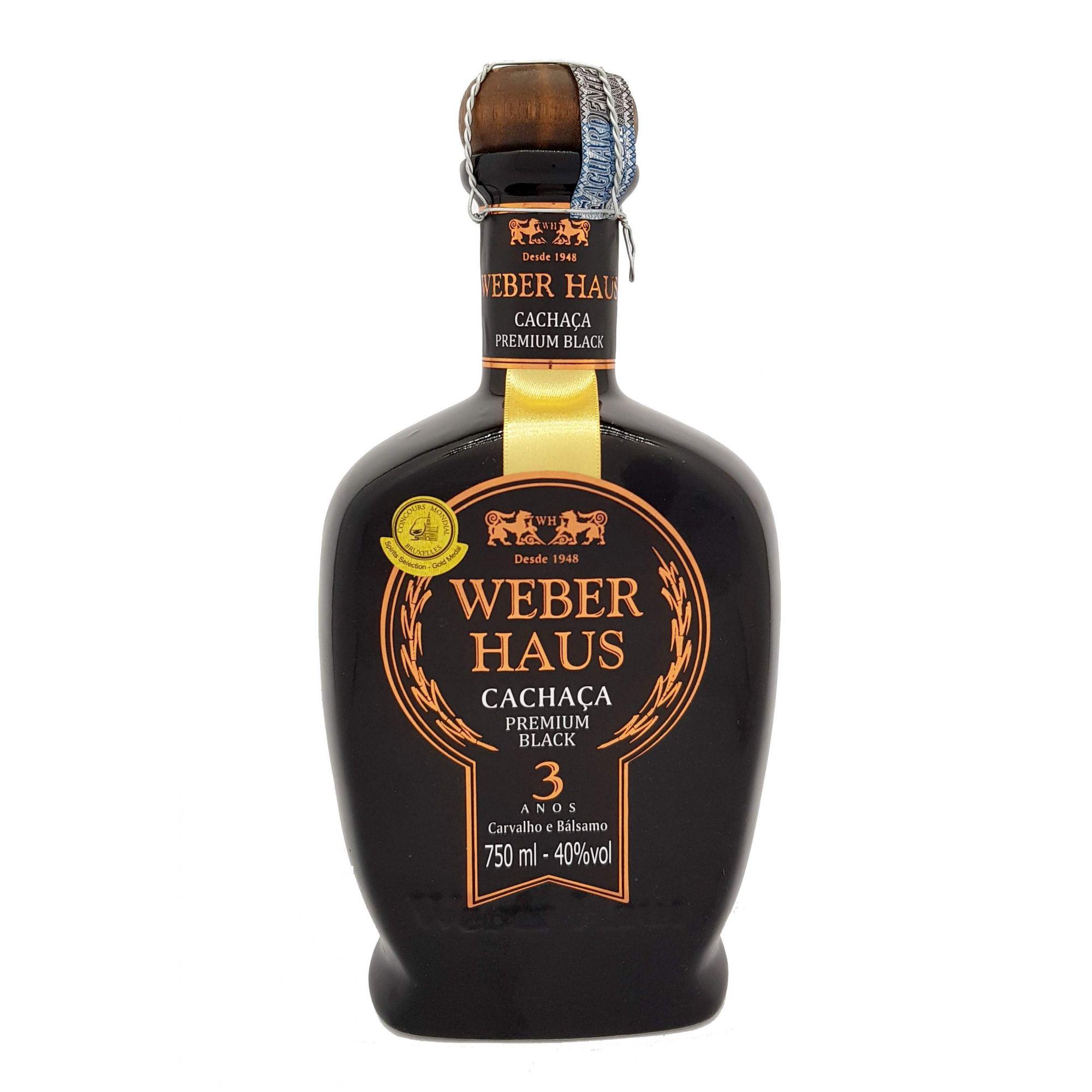Cachaça Weber Haus Premium Black 750ml
