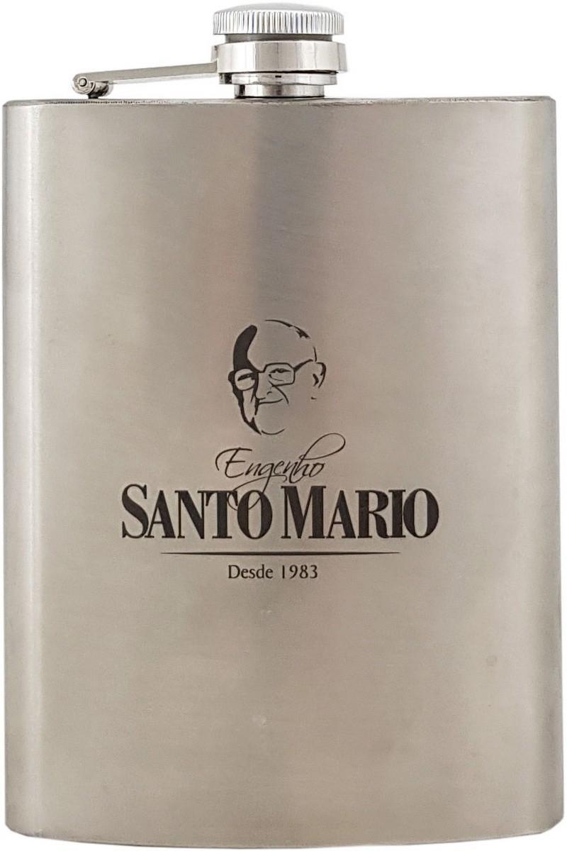 Cantil de Inox Santo Mario 210ml (Com cachaça)
