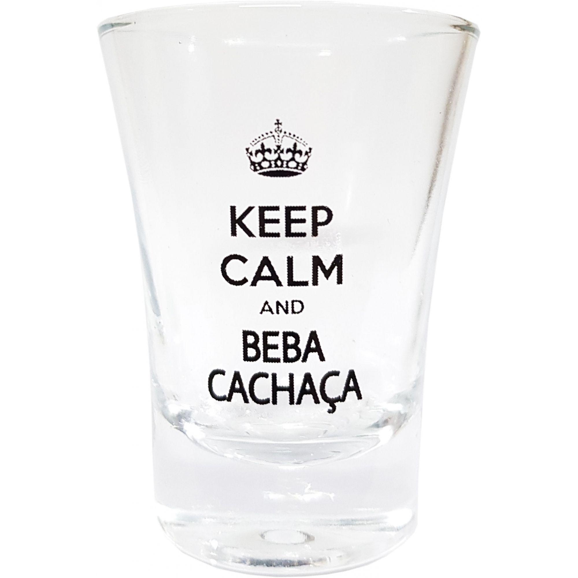 Copinho Dose Personalizado Keep Calm And Beba Cachaça 60ml