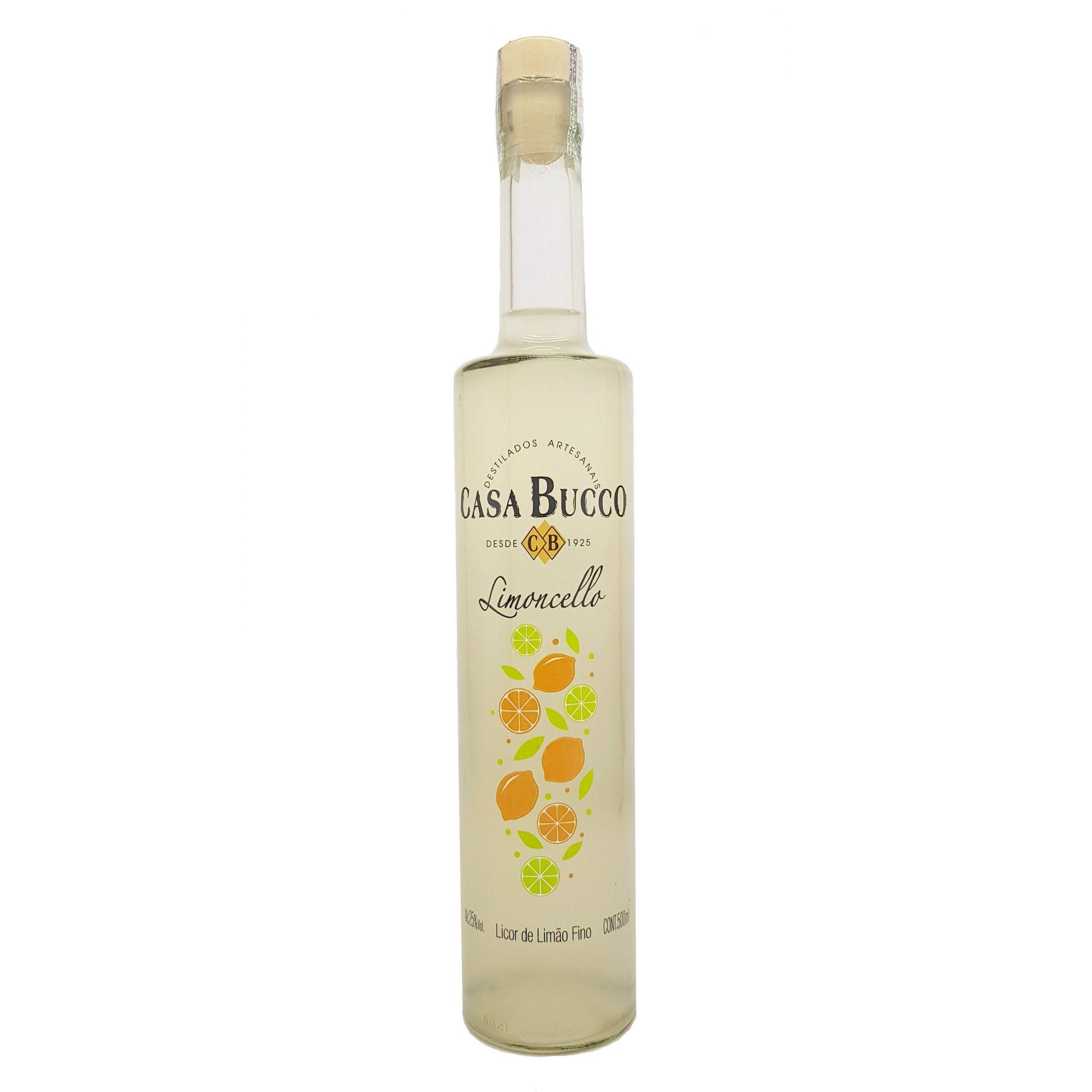 Licor Fino de Limão Limoncello Casa Bucco 500ml