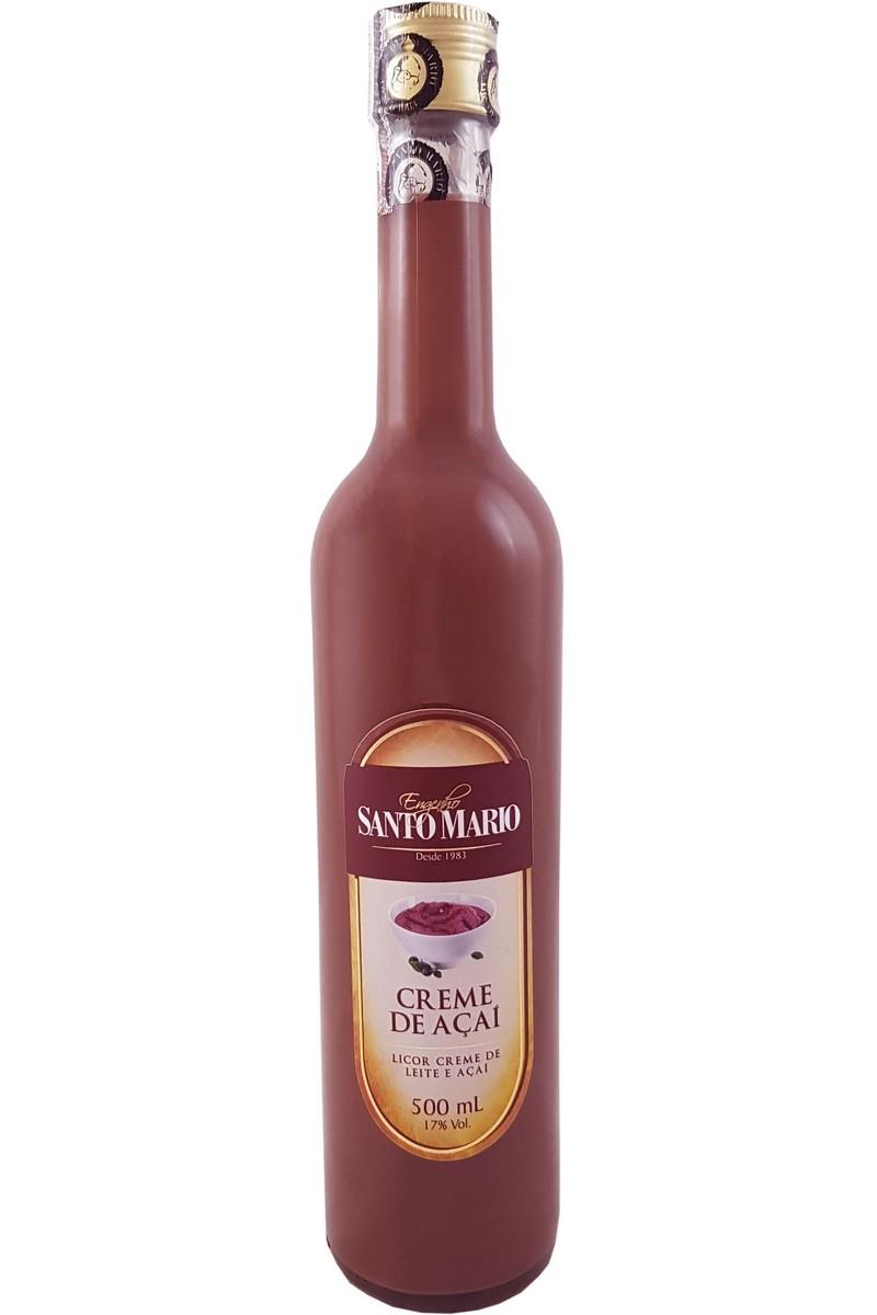 Licor Creme de Açaí Santo Mario 500ml