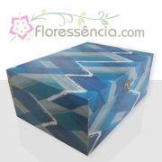 Caixa em MDF para 35 Florais - Azul