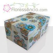 Caixa em MDF para 40 Florais - Estampa com Fundo Amarelo