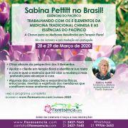 Curso PRESENCIAL TRABALHANDO COM OS 5 ELEMENTOS DA MEDICINA CHINESA E OS FLORAIS DO PACÍFICO com Sabina Pettitt