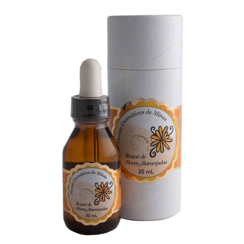 Buquê de Flores Alaranjadas - 30 ml  - Floressência