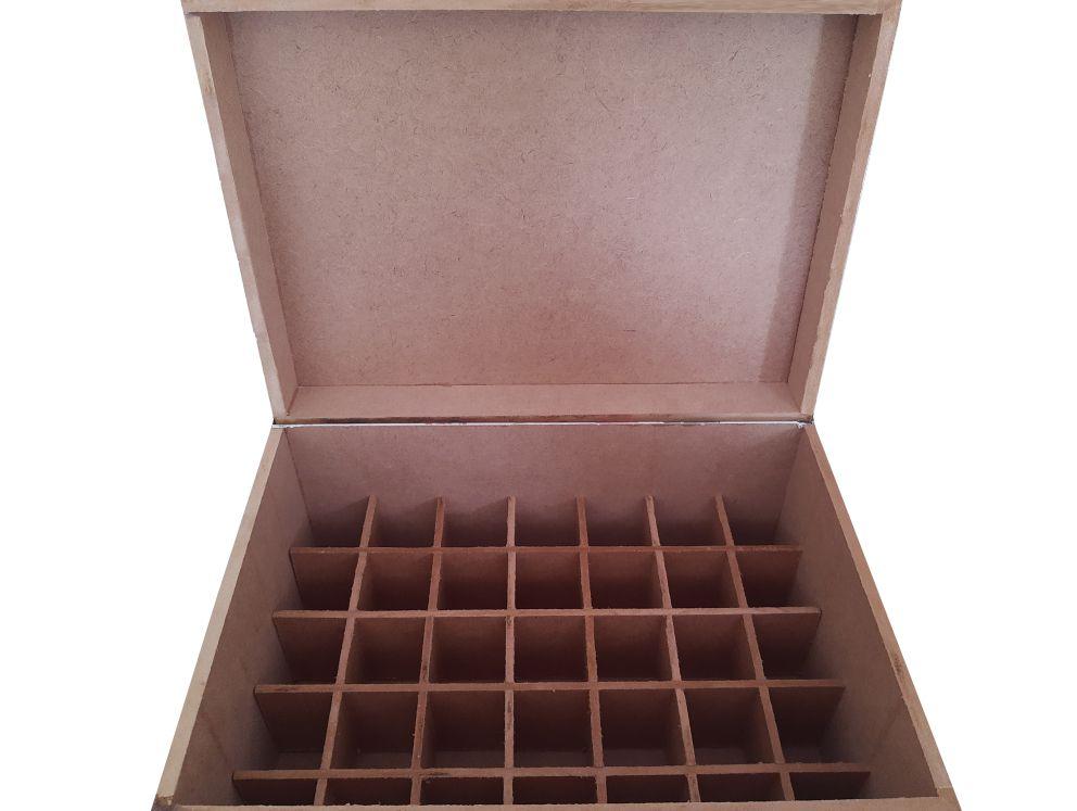 Caixa em MDF - 35 frascos de até 15 ml  - Floressência