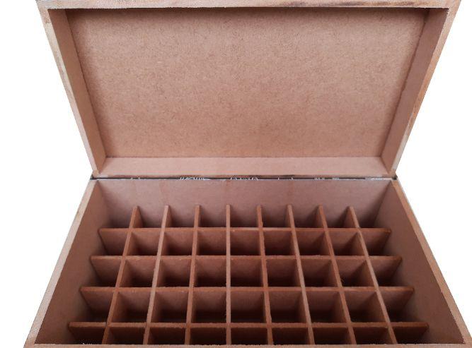 Caixa em MDF - 45 frascos de até 10 ml  - Floressência