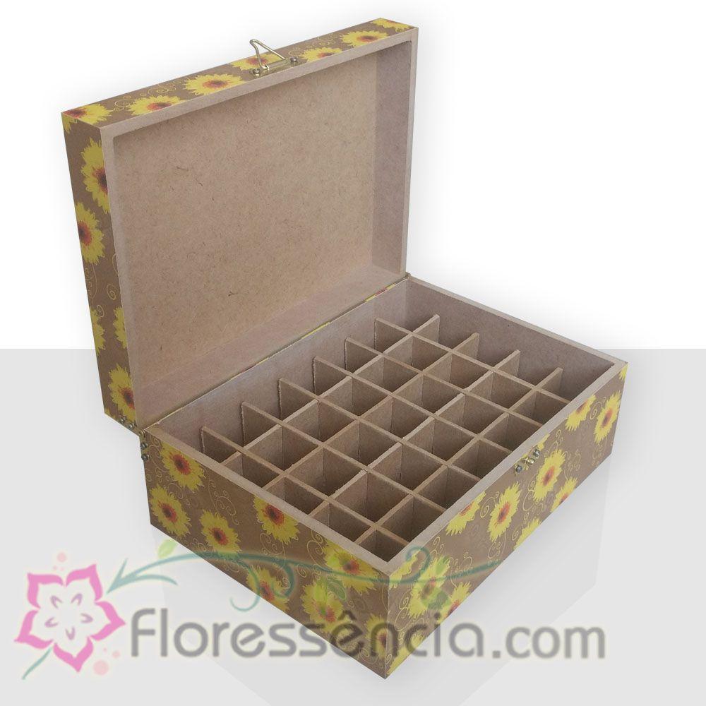 Caixa em MDF para 35 Florais - Florida Girassol  - Floressência