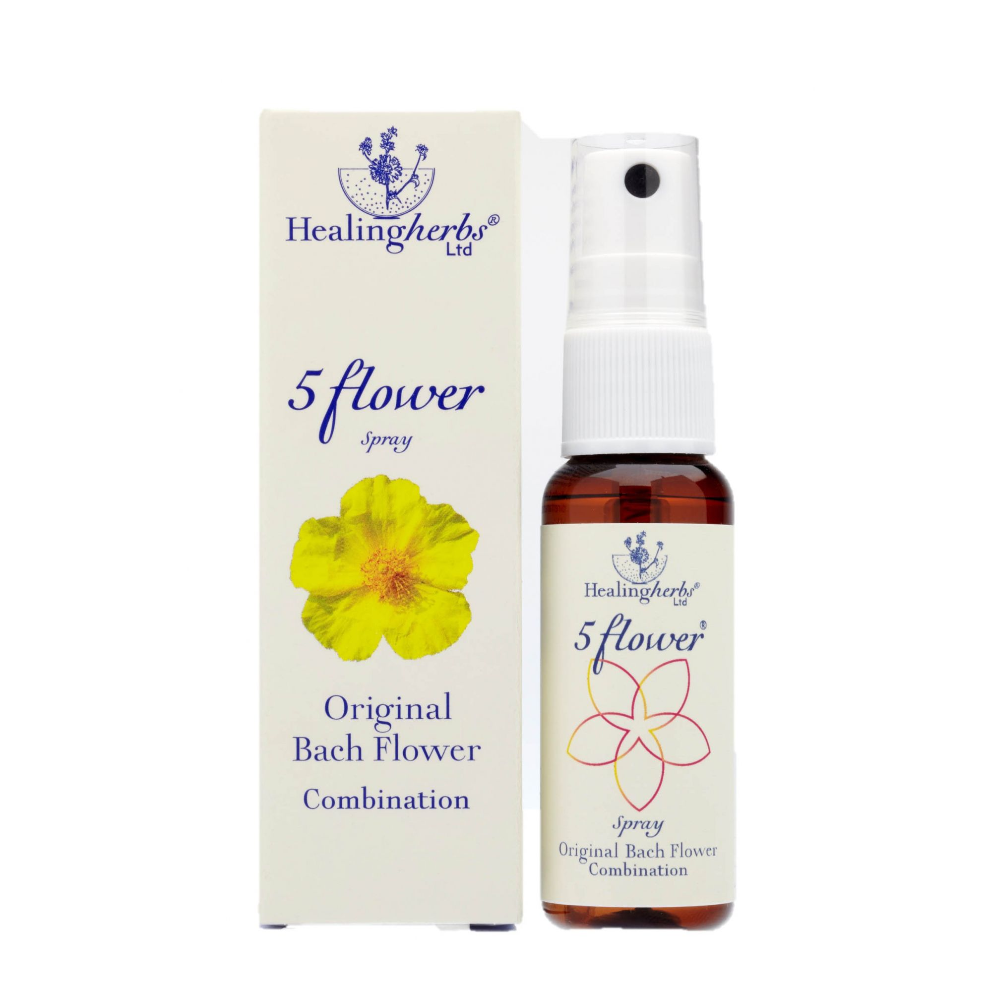 Five Flower Spray Oral Emergencial de Bach - 20 ml  - Floressência