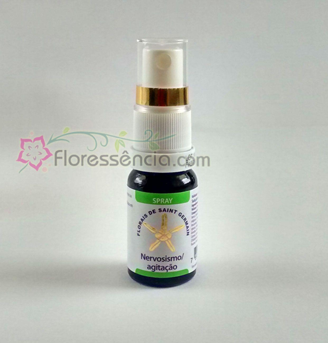 Fórmula Calma e Tranquilidade (Nervosismo e Agitação)  Spray uso oral - 10 ml  - Floressência