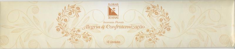 Incenso Floral Alegria & Confraternização - 10 varetas  - Floressência
