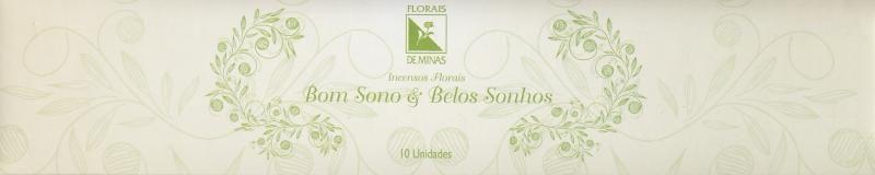 Incenso Floral Bom Sono & Belos Sonhos - 10 varetas  - Floressência