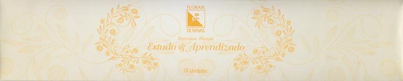 Incenso Floral Estudo & Aprendizado - 10 varetas  - Floressência