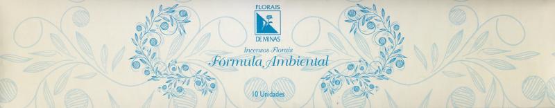 Incenso Floral Fórmula Ambiental - 10 varetas  - Floressência