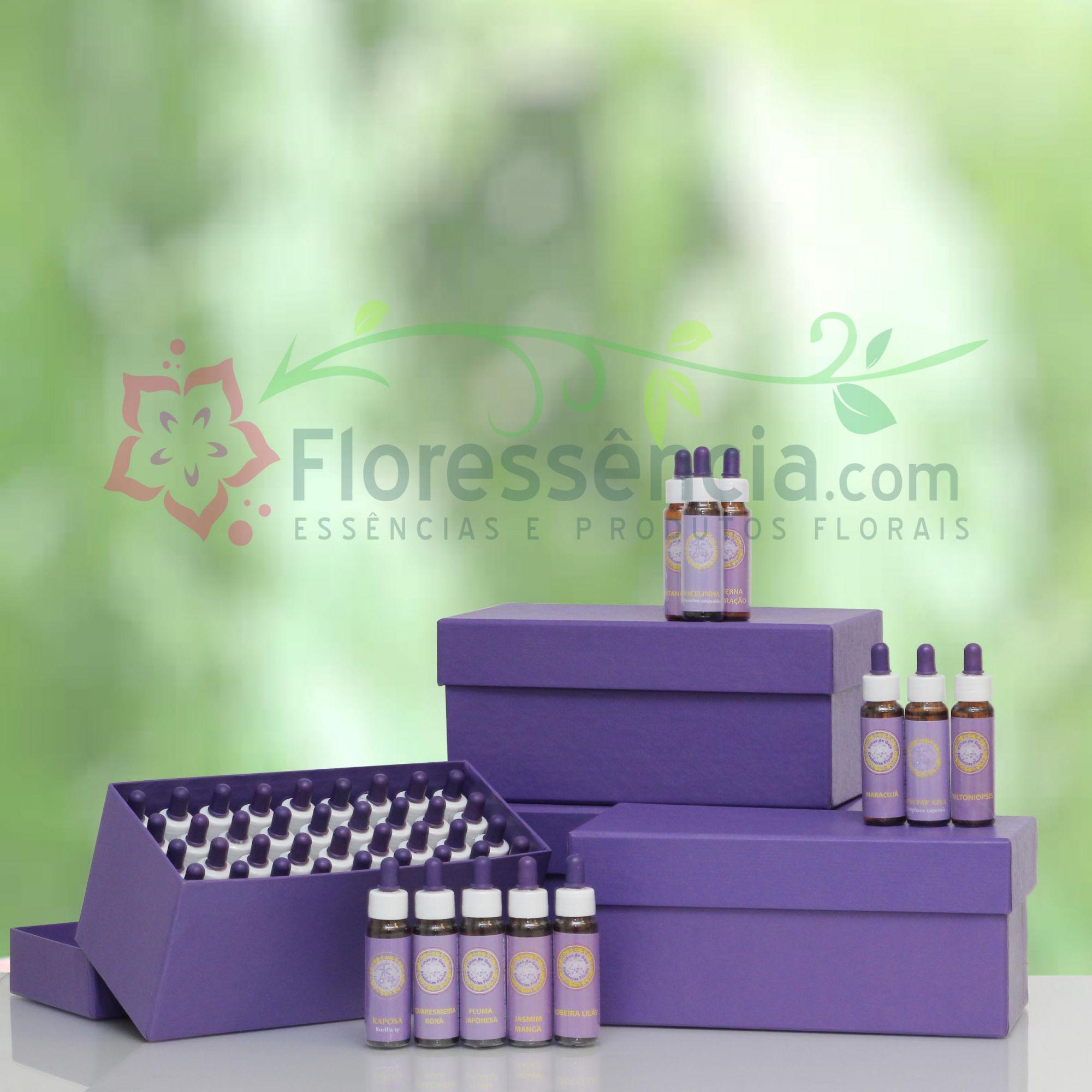 Kit Completo Florais Filhas de Gaia - 126 Frascos  - Floressência