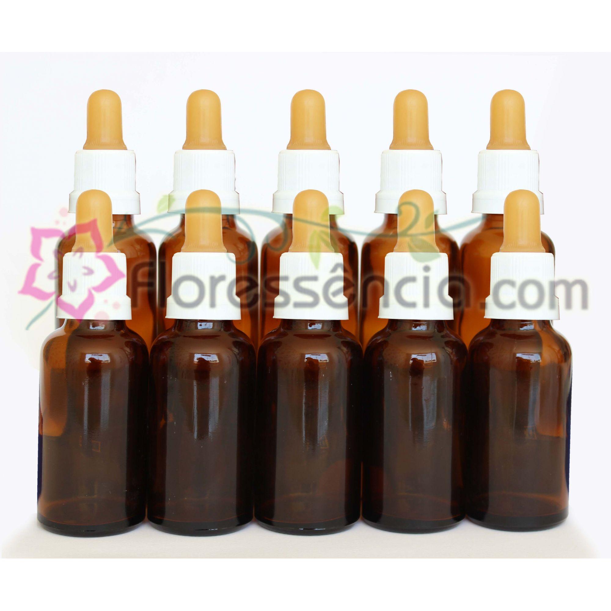 Kit de Vidros Âmbar - 30 ml (10 und)  - Floressência