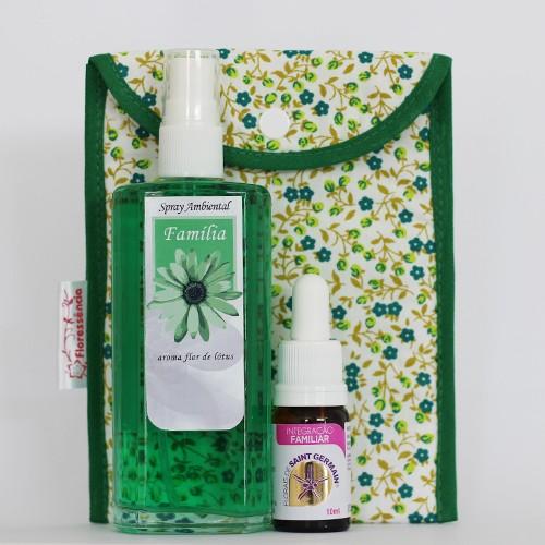 Kit Família  - Spray Ambiental + Floral Integração Familiar + Bolsinha  - Floressência