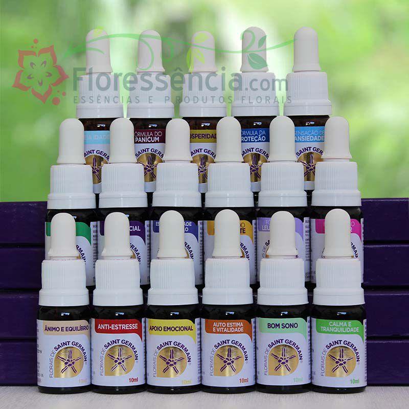 Kit Fórmulas Compostas FSG - 17 Frascos - 10 ml - Gotas  - Floressência