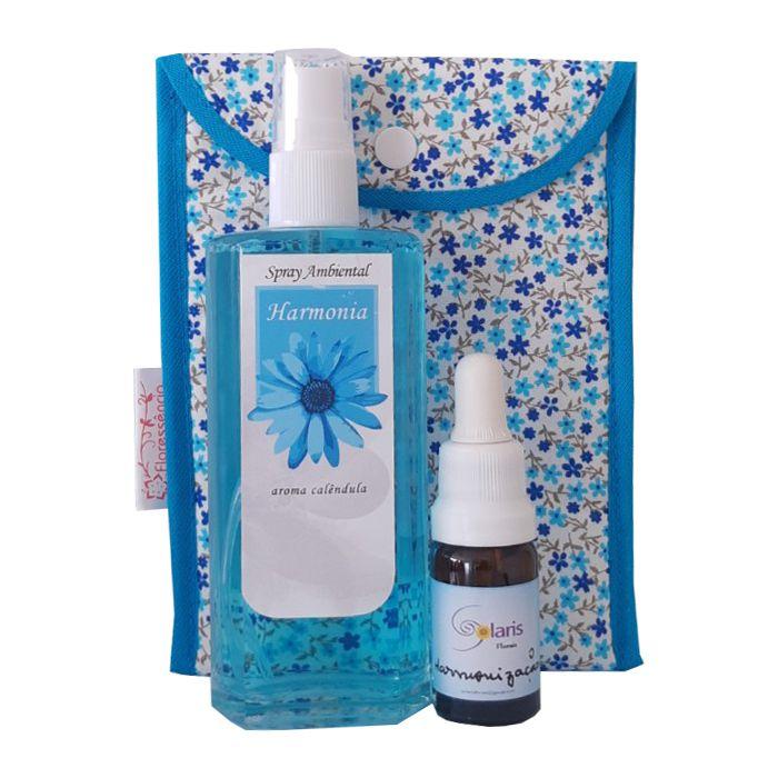 Kit Harmonia  - Spray Ambiental + Floral Harmonização + Bolsinha  - Floressência