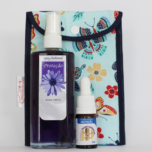 Kit Proteção  - Spray Ambiental + Floral Proteção + Bolsinha  - Floressência