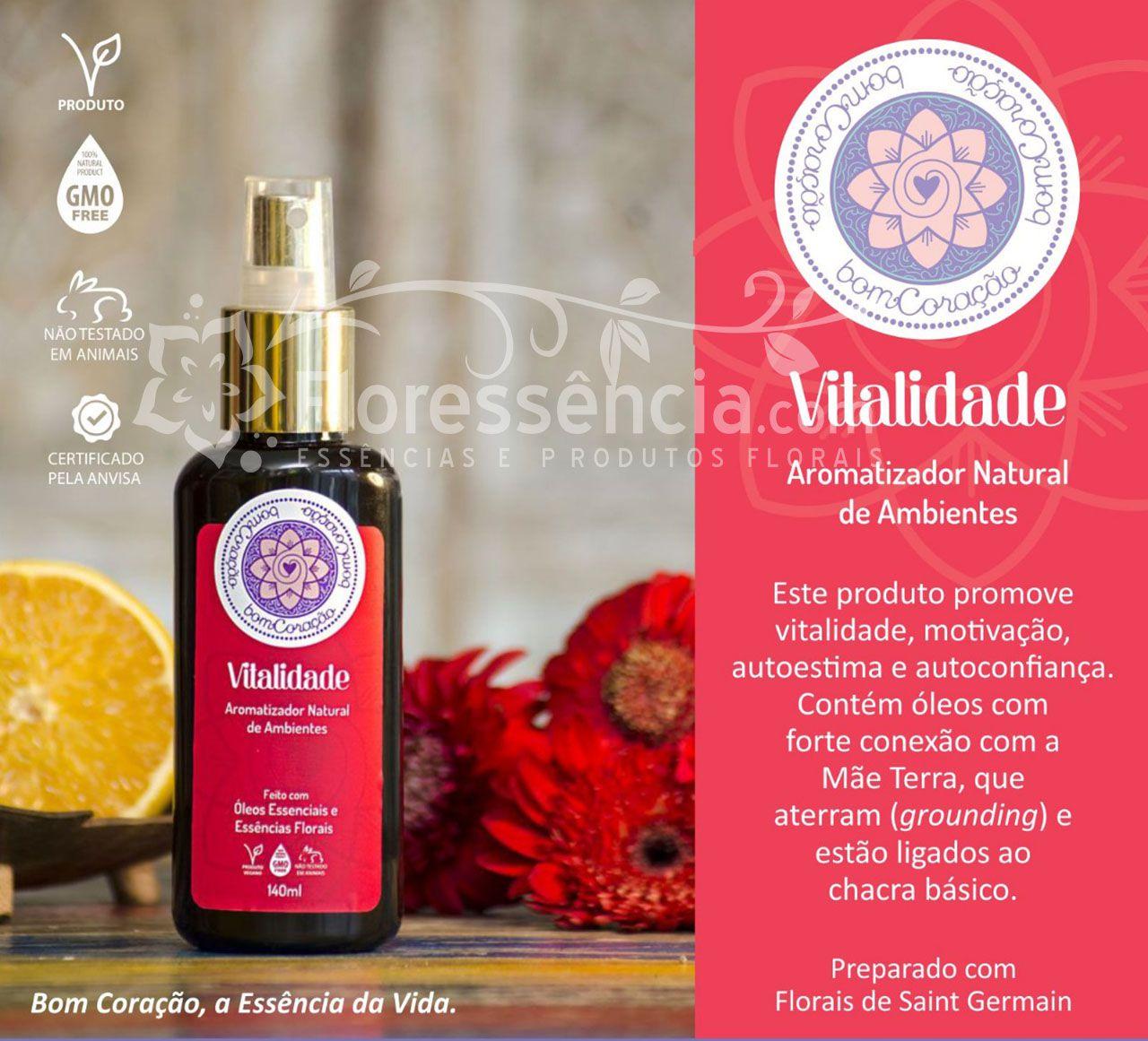 Spray Ambiental Vitalidade - 140 ml  - Floressência