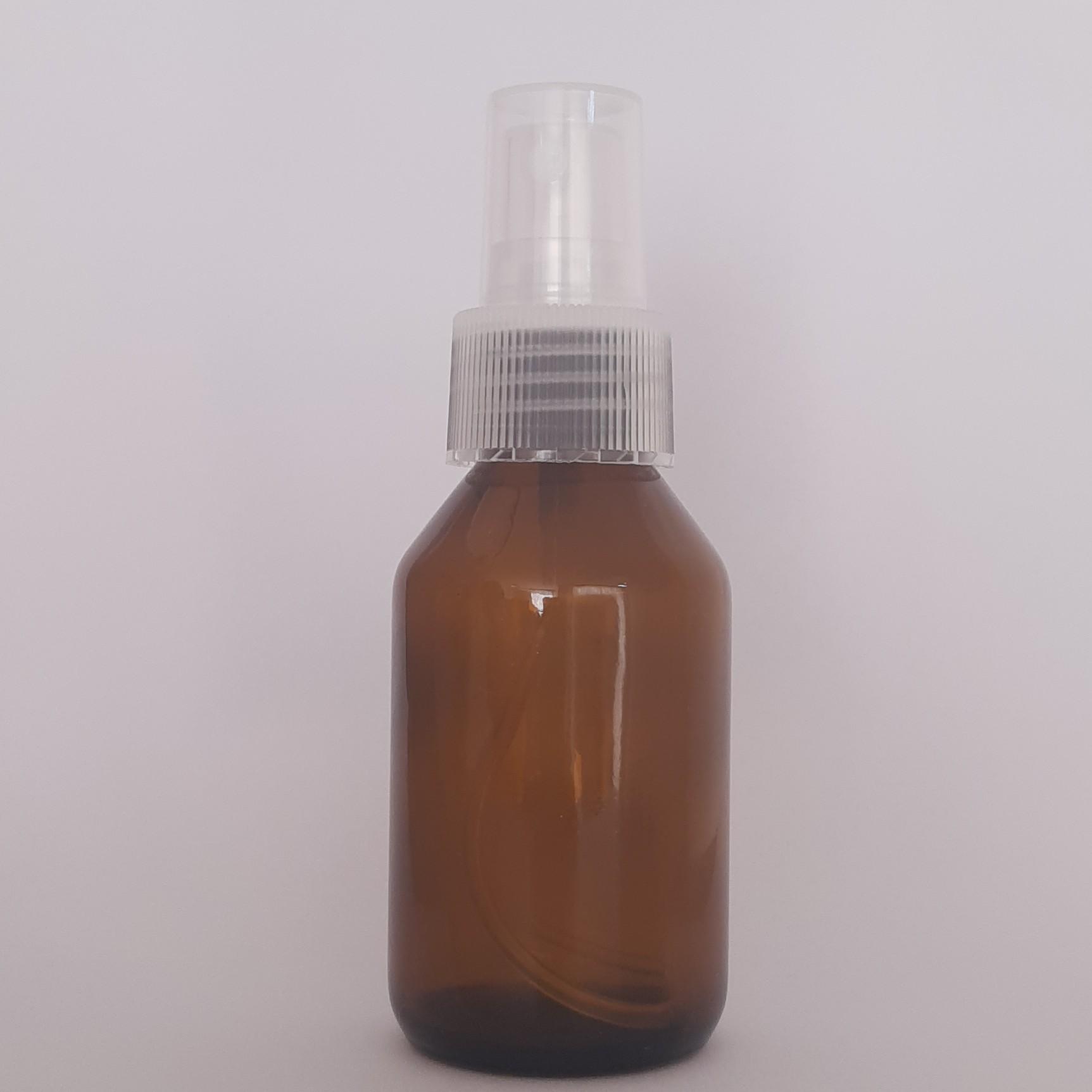 Vidro Âmbar com Válvula Spray - 60 ml  - Floressência