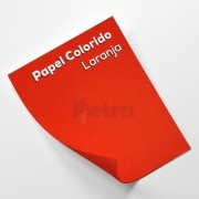 Papel Colorido Laranja  - tam. A4 180g/m²