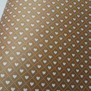 Papel Coração  Ref 02 - Kraft com Branco - Tam. 30,5x30,5 - 180g/m²