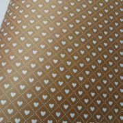 Papel Coração Ref 02 - Kraft com Branco - Tam. 47x65cm - 180g/m²