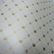 Papel Coroa - Pérola com Dourado - Tam. 32x65cm - 180g/m²