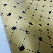 Papel Coroa - Pérola Ouro com Preto - Tam. A4 - 180g/m²