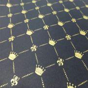 Papel Coroa - Preto com Dourado - Tam. 32x65cm - 180g/m²