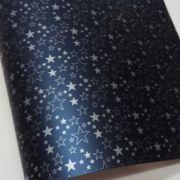 Papel Estrelas - Pérola Azul Petróleo com Prata - Tam. A4 - 180g/m²