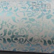 Papel Floral Ref 01 - Branco com Azul  - Tam. 47x65 cm - 180g/m²