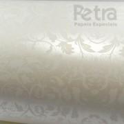 Papel Floral Ref 01 - Pérola com Branco - Tam. A4 - 180g/m²