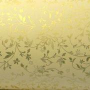 Papel Floral Ref 03 - Sahara com Dourado - Tam. 32x65cm - 180g/m²