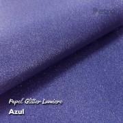 Papel Glitter Azul 150g - 30,5x30,5cm com 6 folhas