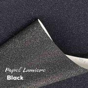 Papel Glitter Lumiere Black 150g - Preto - A4 com 10 folhas
