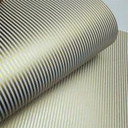 Papel Listrado - Branco com Dourado - Tam. A4 - 180g/m²