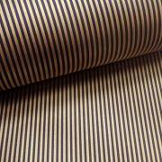 Papel Listrado - Marrom com Dourado - Tam. 30,5x30,5 - 180g/m²