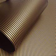 Papel Listrado - Marrom com Dourado - Tam. A3 - 180g/m²