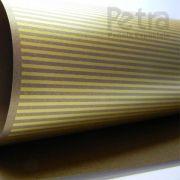 Papel Listrado - Pérola Bronze com Dourado - Tam. 32x65cm - 180g/m²