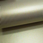 Papel Listrado - Pérola Champanhe com dourado- Tam. 30,5x30,5cm - 180g/m²