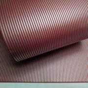 Papel Listrado - Vermelho com Prata - Tam. 32x65cm - 180g/m²