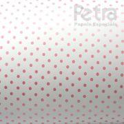 Papel Poás - Branco com Rosa - Tam. A3 - 180g/m²