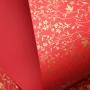Papel Floral Ref 03 - Vermelho com Dourado - Tam. A4 - 180g/m²